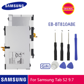 SAMSUNG Original Battery EB-BT810ABE 5870mA For Samsung GALAXY Tab S2 9.7 T815C SM-T815 T815 SM-T810 SM-T817A S2 T813 T819C detachable wireless bluetooth 3 0 keyboard with touchpad pu leather case cover stand for samsung galaxy tab s2 9 7 sm t810 t815