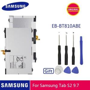 Image 1 - SAMSUNG oryginalna bateria EB BT810ABE 5870mA do Samsung GALAXY Tab S2 9.7 T815C SM T815 T815 SM T810 SM T817A S2 T813 T819C