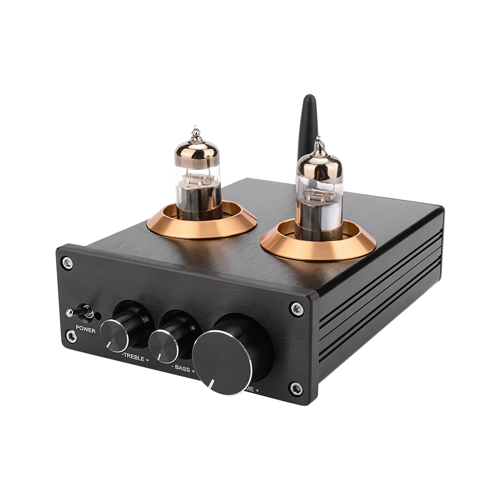 AIYIMA Buffer HiFi 6J5 (Upgrade 6J1) Bluetooth 4.2 5.0 Tube Preamp Amplifier Stereo Preamplifier With Treble Bass Tone Ajustment