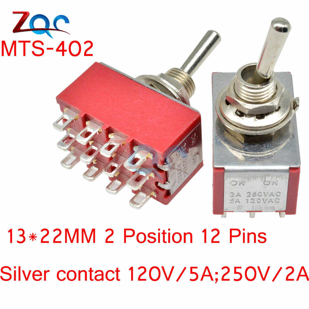 Mini Auto Toggle Switch Menempel MTS-302/303/402/403/123/223 SPDT Buah MTS302 Di -OFF-ON ON-On 120VAC 125VAC 5A 250VAC 2A