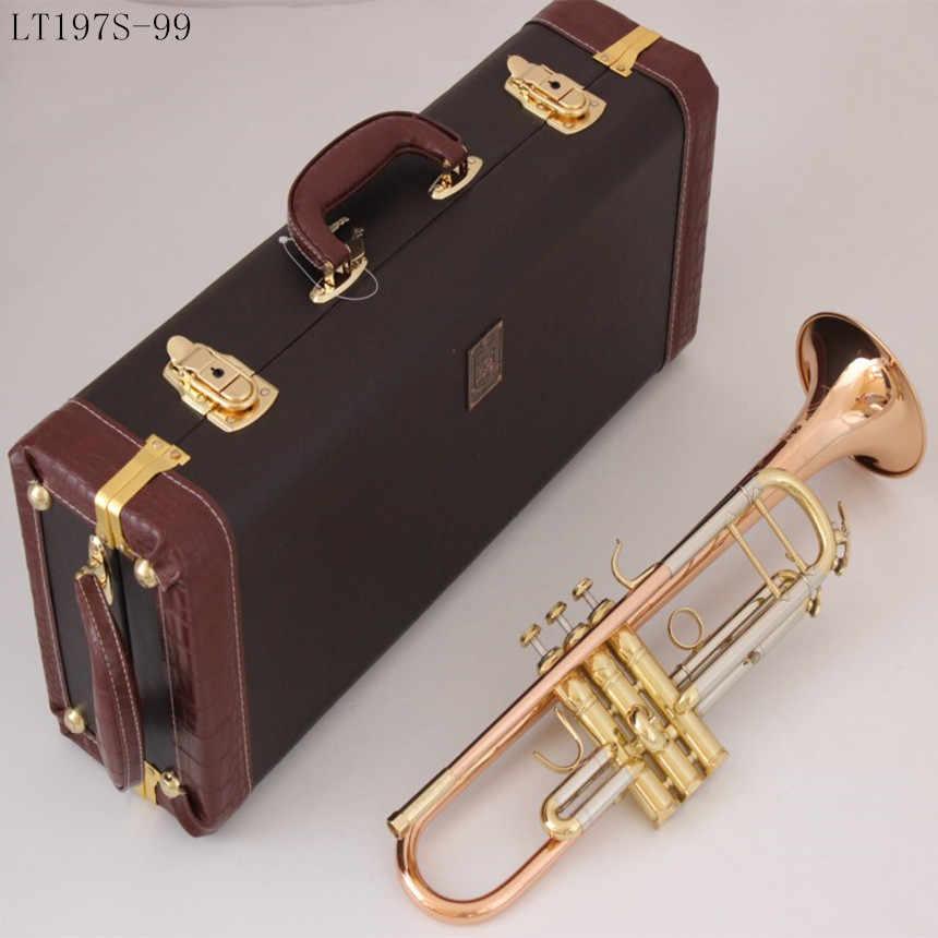 Bach Stradivarius Bb ทรัมเป็ต LT197S-99 ฟอสฟอรัสทองแดงเครื่องดนตรีใหม่ปากเป่าทรัมเป็ตระดับมืออาชีพ