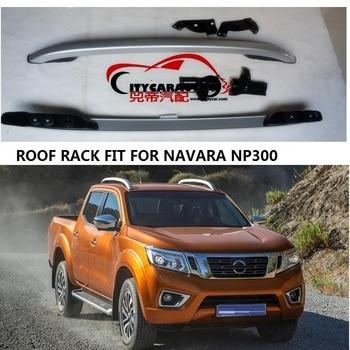 Декоративные рельсы для крыши CITYCARAUTO, подходят для NISSAN NAVARA NP300, аксессуары, серебристые рейки для крыши, стойки для переноски, 2016-2017