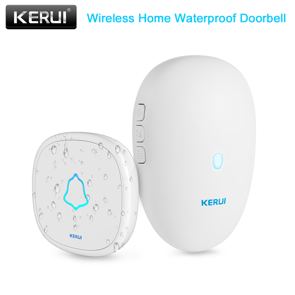 KERUI M521 Wireless Doorbell Waterproof Home Security Touch Button 433MHz Smart Home Welcome/Alarm Doorbell With 12V Battery