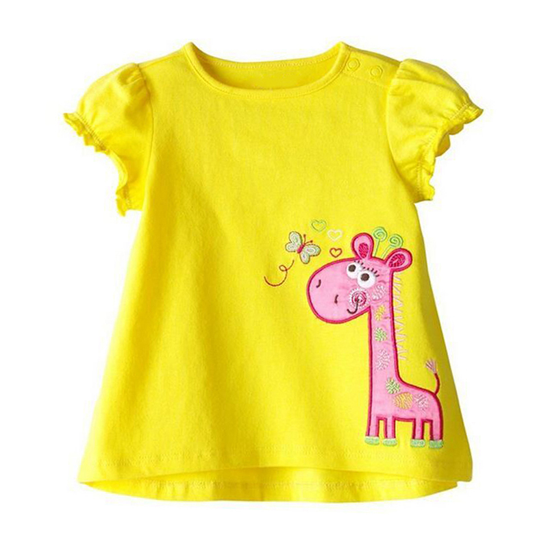 SUMMER KIDS T-shirt Pure Cotton GIRL 0-2 Yrs Old Vest Short Sleeve Thin 1 Piece Selective