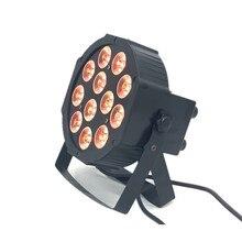 Led par rgbw 4 em 1 12x12w, luzes de palco par dmx, lâmpadas planas com profissional para festa ktv disco dj