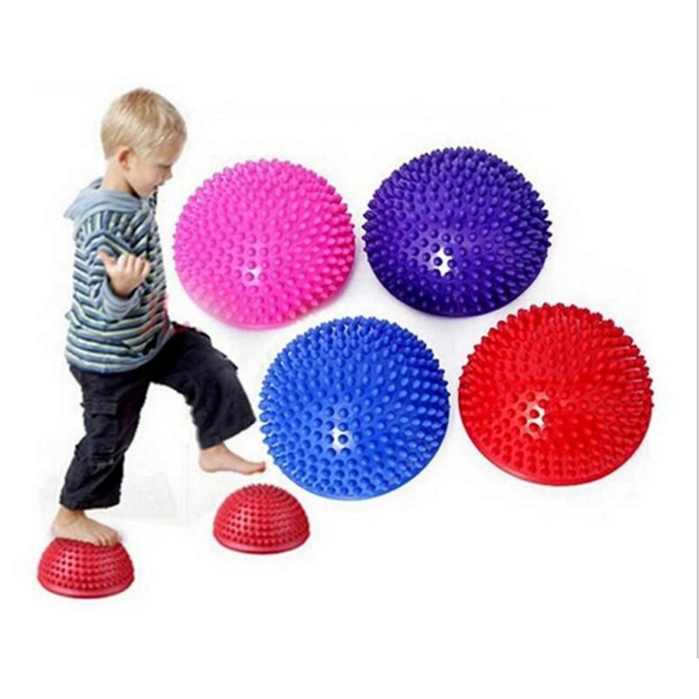 Inflatable Half Yoga Ball Exercise Fitness Equipment Balance Training Board Point Massage Ball Board For Children Free Shipping