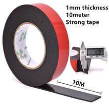 1MM thickness Super Strong Double Faced Adhesive Tape Foam Double Sided Tape Self Adhesive Pad For Mounting Fixing Pad Sticky 2mm 10mm 10m 0 5mm thickness black super strong self adhesive foam car trim body double sided tape mobile phone dust proof tape