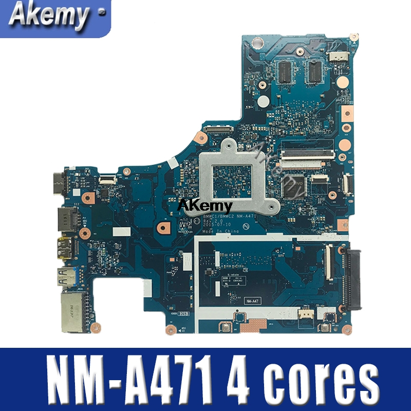 BMWC1/BMWC2 NM A471 motherboard for Lenovo 300 15IBR Laptop motherboard  100% test work  4 cores 1G VGA card Motherboards     - title=