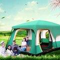 خيمة في الهواء الطلق مقاوم للماء كارباس دي خيام التخييم طبقة مزدوجة خفيفة 8 شخص خيمة للشاطئ التنزه السفر خيمة Barraca Acampamento