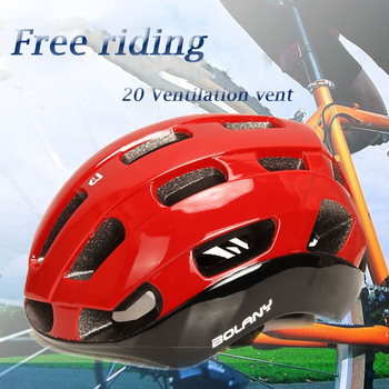Riding Helmet Cross-Border Source Ultra-Light Goggles Integrated Forming Bicycle Helmet Mountainous Bike Protection Equipment