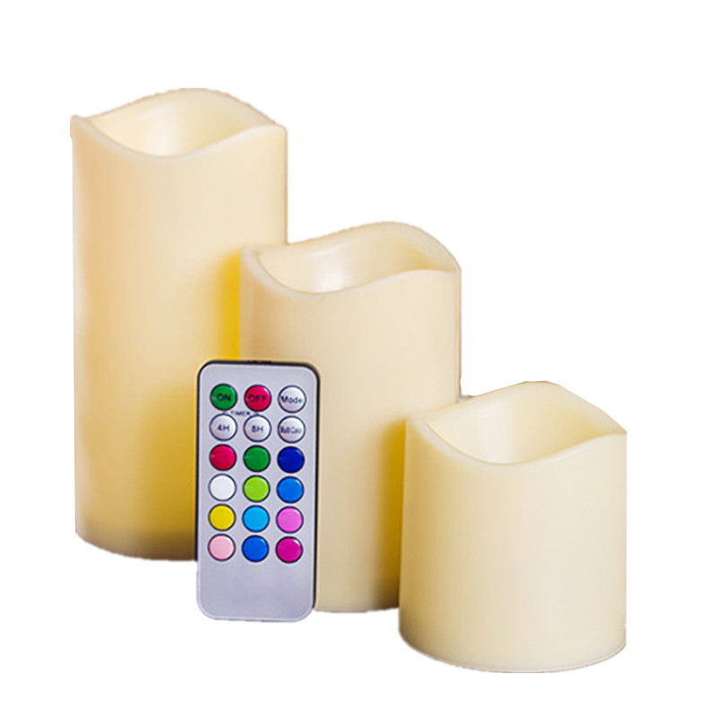 3pcs Flameless LED Candles Tealight With Remote Night Lights Lamp For Birthday Xmas Party Home Decor 7 Colorful Fake Candles