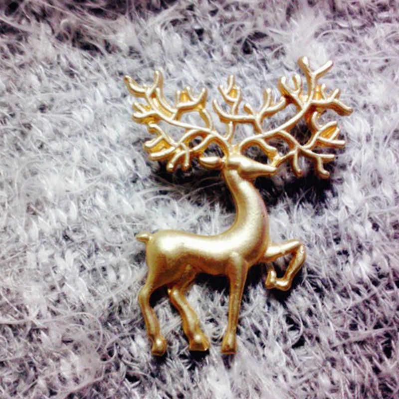 1 pçs pino animal moda ouro elk festa favores crianças meninas roupas decoração do bebê festa presentes