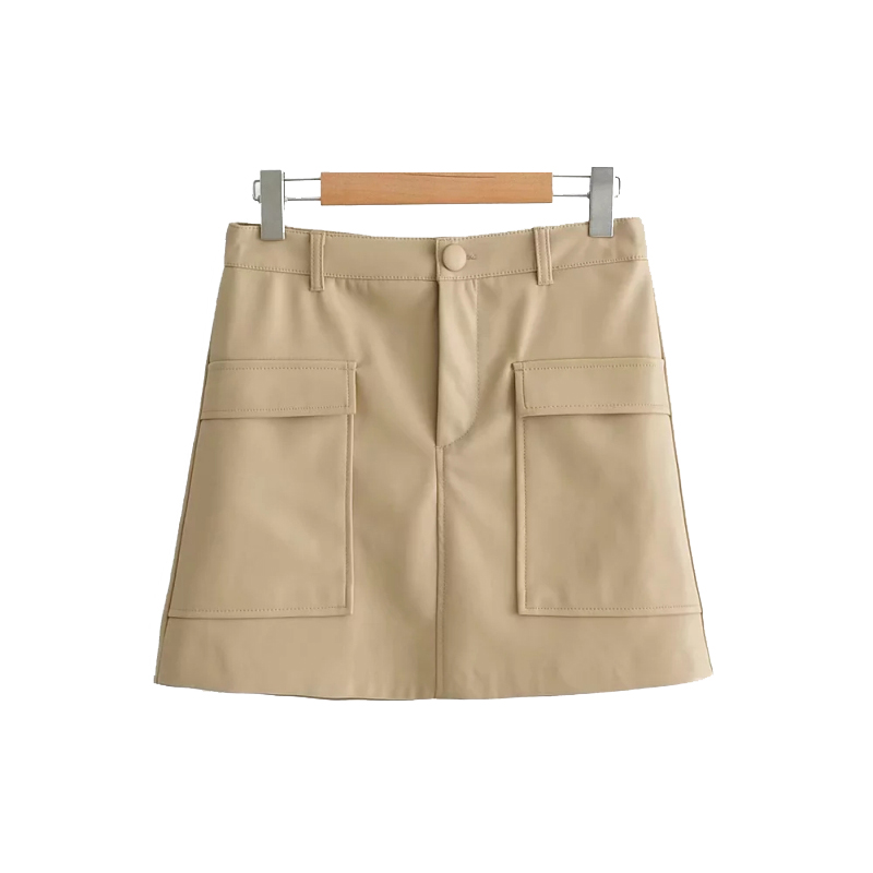 2019 Black PU Women Mini Skirts Spring-Autumn High Waist Beige Skirt Womens Faux Leather Pencil Skirts Ladies Jupe Femme Faldas