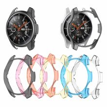 Transparent Protector Shell Protective Case Frame Cover For Samsung Galaxy Watch 46mm Gear S3 Frontier Smartwatch protective cover for samsung gear s3 frontier case tpu plated all around protective bumper shell smartwatch r760 cover frame