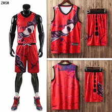 Youth adult Personalized basketball jersey set Sports clothes high quality print uniform training suit customized