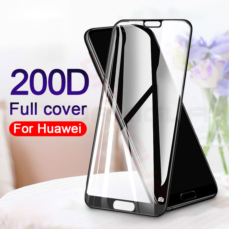 200D Full Cover Tempered Glass For Huawei P20 P30 Lite Pro Nova 3E Screen Protector Glass On For Honor 10 20 Lite 20 Pro Film