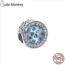 CodeMonkey 100% Real 925 Sterling Silver Light Green Grass Beads Charms Fit Original Pandora Bracelet DIY Jewelry For Women 1003