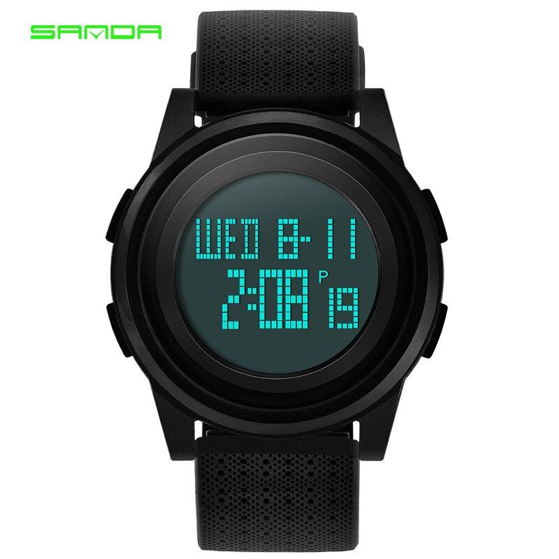 Новые SANDA цифровые часы мужские водонепроницаемые 3ATM мужские часы ультра-тонкие Военные Спортивные часы модные креативные мужские часы