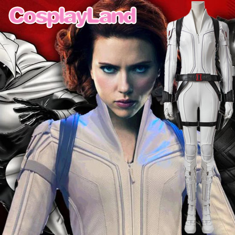 Movie Cosplay Black Widow White Costume Adult Halloween Costumes For Women Natasha Romanoff White Suit Sexy Jumpsuit Outfit Movie Tv Costumes Aliexpress