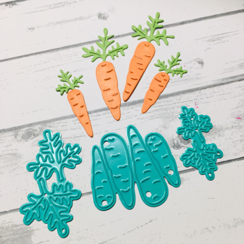 Rabbit Eats Carrot Metal Cutting Dies Cut Die Mold Decoration Scrapbooking Embossing Paper Craft Mould Punch Stencils