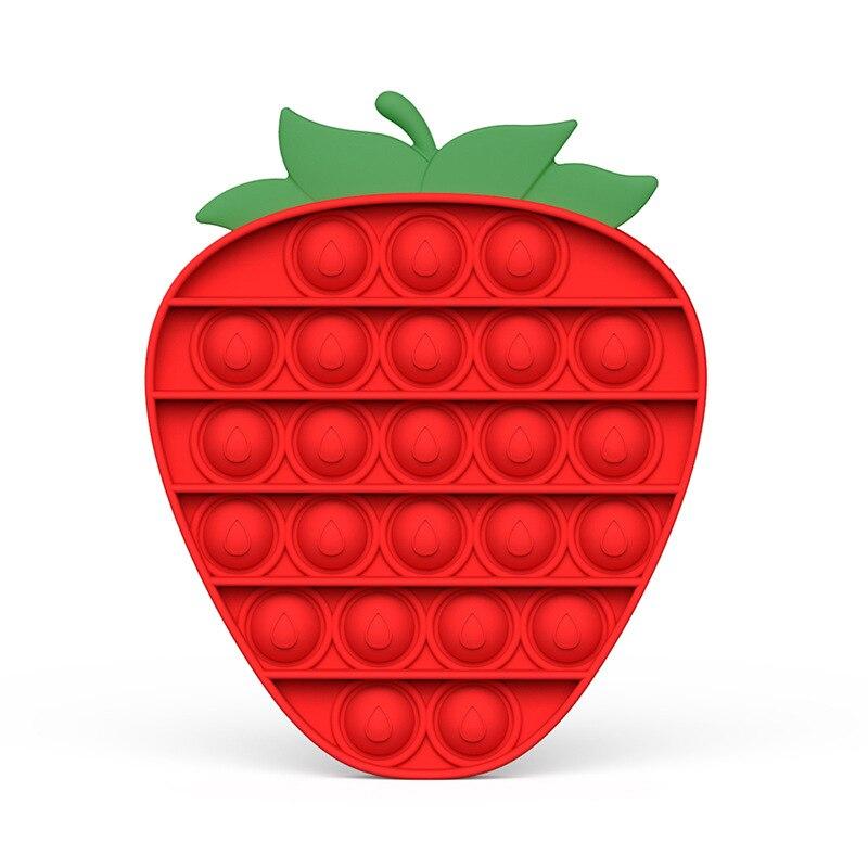 Push Pop Bubble Sensory Toy Autism Needs Squishy Stress Reliever Toys Anti-stress Pop It Fidget Strawberry Pineapple Rainbow Toy img2