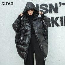 XITAO, черные, большие размеры, парки, женские,, Осенние, элегантные, с карманами, с широкой талией, плотные, элегантные, маленькие, свежие, в стиле миноритари, парки LJT4459