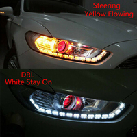 Tira de luces LED Flexible, luz de circulación diurna DRL, blanca y amarilla, secuencial, corredores de distribución, señal de giro de esquina, 2 uds.