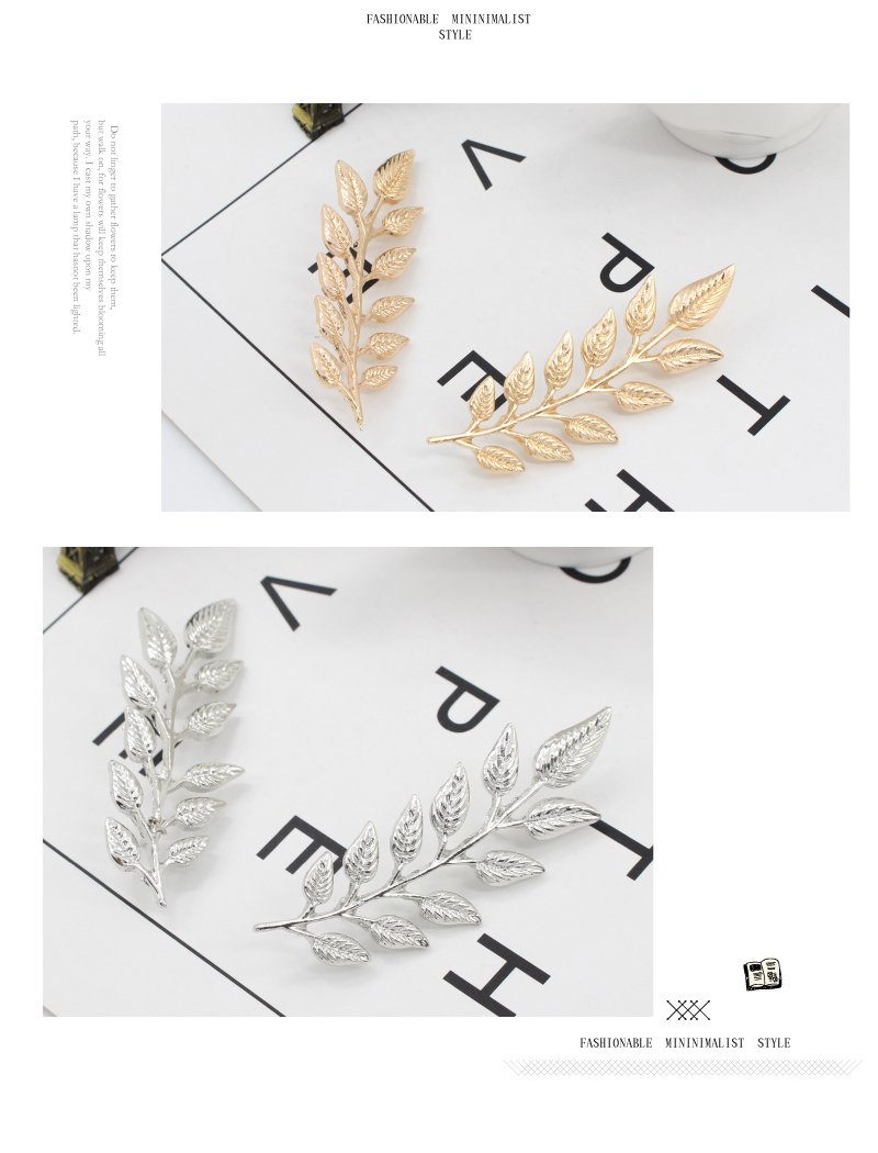 Delicate Tree Leaf Brooches Pins For Women Men Vintage Elk Wings Palm Crystal Jean Shirts Suits Lapel Pin Retro Broche(1 Pair) CLOVER JEWELLERY