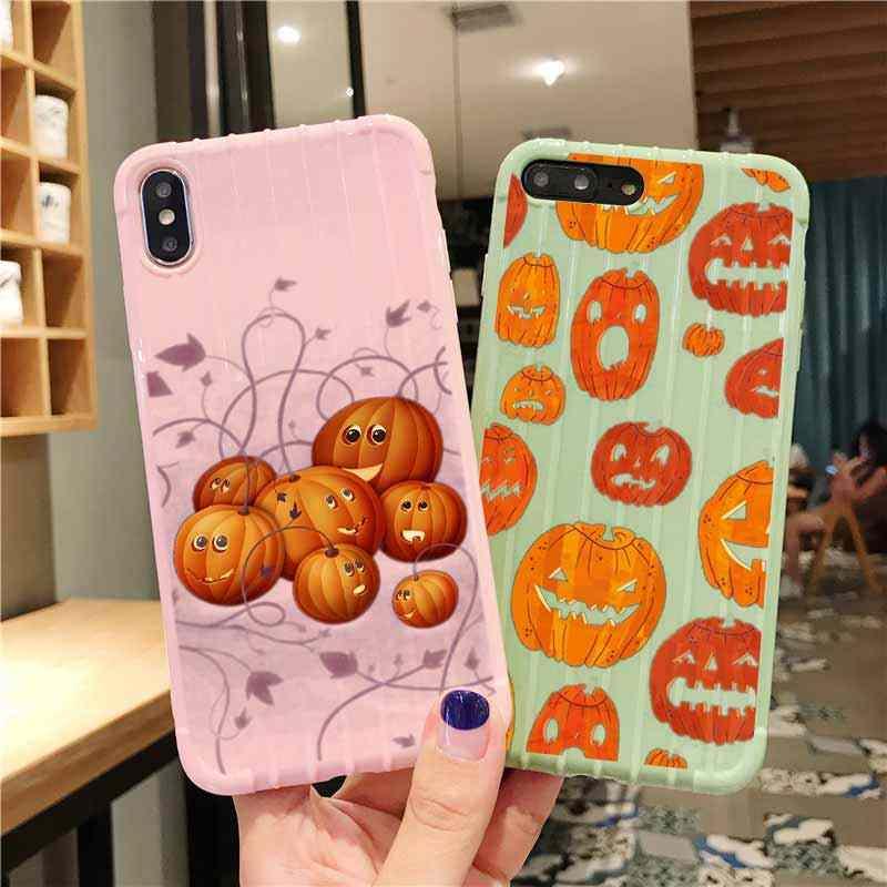 Pânico dia das bruxas trole mala textura caso do telefone iphone 11 pro max x xs max 8 7 6 s mais bonito doces cor embalagem