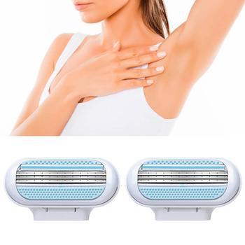 Maszynka do golenia dla kobiet 2 sztuk partia maszynka do golenia szybka dostawa depilacja wymiana głowy do usuwania włosów Beauty tanie i dobre opinie CN (pochodzenie) Brak interchangeable shaving cassettes Bikini GilteVens