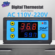 DC 24V Thermostat Digital Temperature Controller Dual LED Display Thermometer with NTC Sensor Meter Probe W3231 150 cm ntc 10 k ohm 1% 3435 thermistor temperature sensor cylinder probe 1 5 m wire