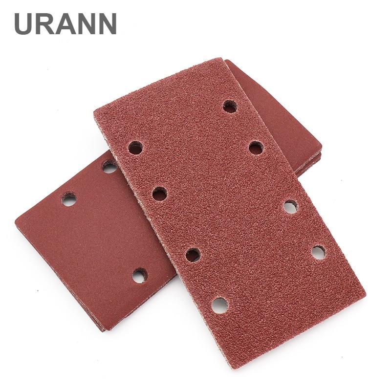 10pcs Self-adhesive Sandpaper Square Sander Sand Paper Hook Loop Sandpaper Disc Abrasive Tools For Polishing Grit 40-800
