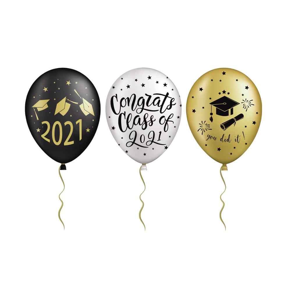 بالونات التخرج 2021 زينة حفلات التخرج مبروك غراد راية التخرج خلفية فئة من 2021 كابينة تصوير الدعائم بالونات وإكسسوارات Aliexpress