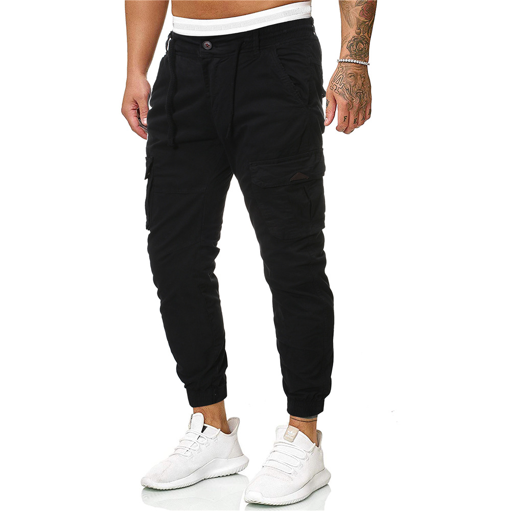 MEN'S WEAR 2019 Autumn And Winter New Style Europe And America Men Multi-pockets Cotton Pants Fashion Cargo Trousers Men's