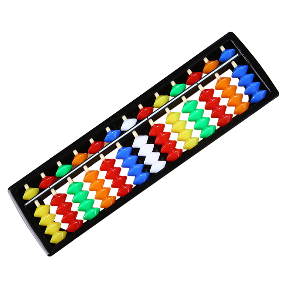 ABS Calculating Tool Kids Gift Unisex Arithmetic Colorful Children Abacus 13 Rods Student Math Toys Educational Beads Soroban