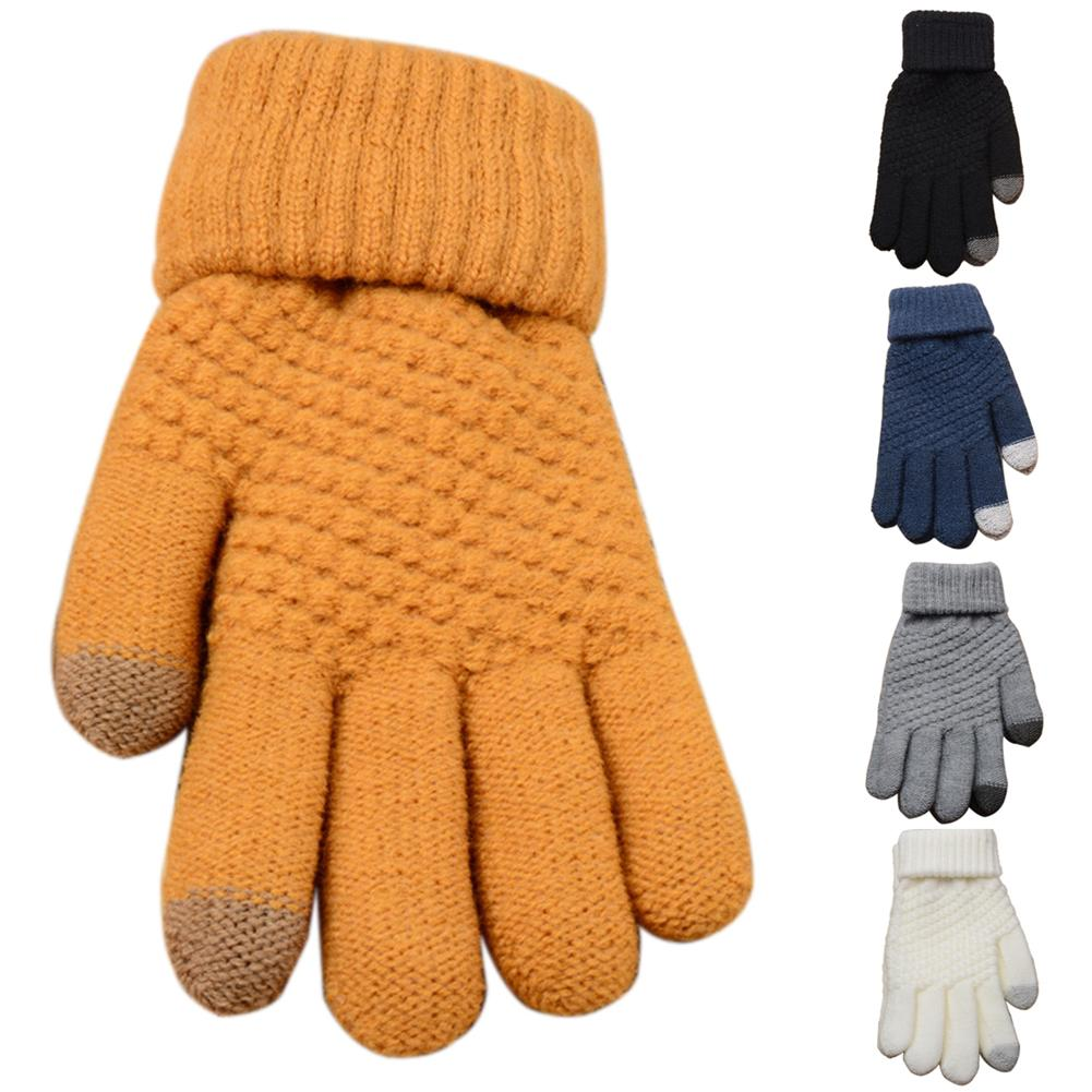 Women Man Winter Soft Knit Touchable Screen Gloves Texting Capacitive Smartphone Gloves