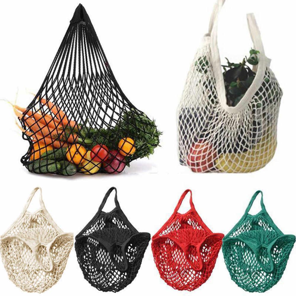 Mesh Net Turtle Bag String torba na zakupy torebka do przechowywania owoców wielokrotnego użytku skrzynki torby przewozowe akcesoria kuchenne narzędzie 1.28