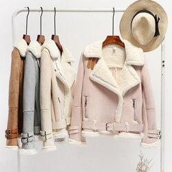 2019 Fashion New Fur  Velvet Plus Thick Deer Velvet Coat Womens Winter Short  Wool Student Women Jacket Warm Parkas
