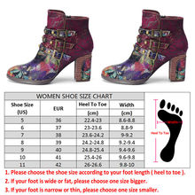 SOCOFY SKY FLOWERS Women's Genuine Leather Handmade Splicing Buckle Zipper Ankle High Heels Boots Round Head Ankle Wedges Boots