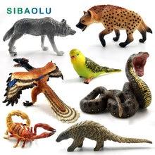Simulation Wolf Känguru Papagei vogel Schlange Tier modell figurine home decor miniatur fee garten dekoration zubehör abbildung