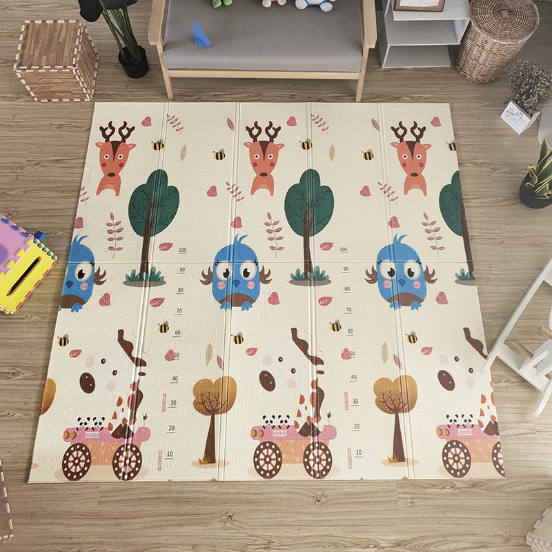 Hf05928eb65e7499e8cbebd3af1d05c85U Thick Educational Children's Mat XPE Foldable Baby Mat Developing Kids Rug Road Game Playmat Soft Floor