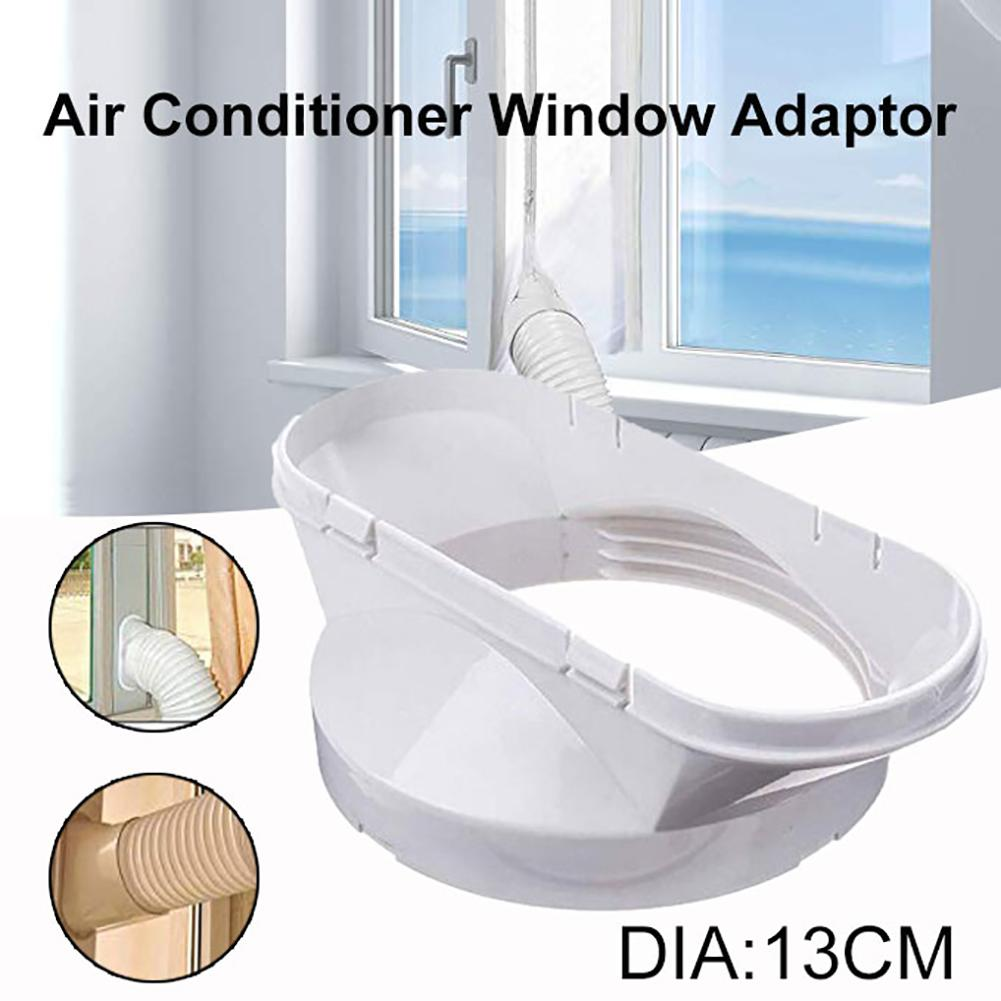 New 1Pc 13cm Portable Plastic Air Conditioner Window Plate Exhaust Hose Connector Duct Adapter