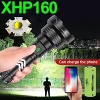 2000000LM XHP160 Linterna Led más potente Luz de antorcha Xhp90 Luz de flash táctica recargable 18650 Linterna Led Cree Xhp50