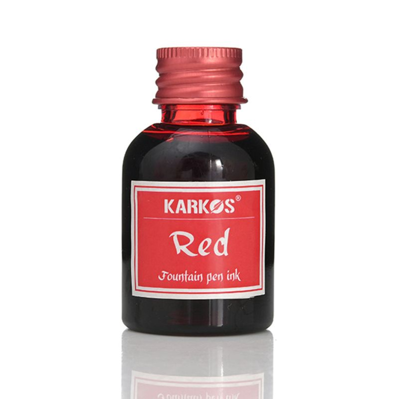 1Pc Red/ Wine Red Fountain Pen Ink 30ml Portable Refilling Ink For Stationery School Office Supplies