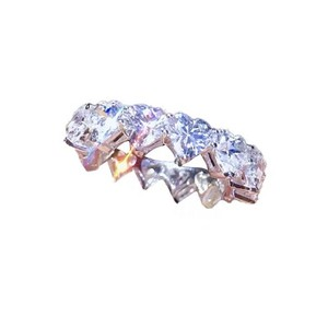 Image 4 - バンドリング 925 スターリングシルバー作成モアッサナイト結婚式婚約パーティーカクテルダイヤモンドリング宝石宝飾品の卸売