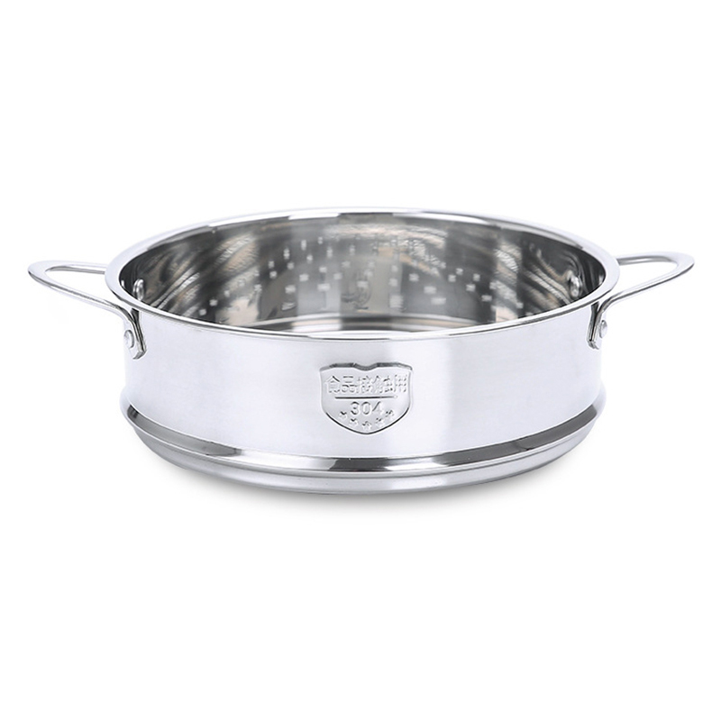 20CM Stainless Steel Thickening Double Ear Steamer Kitchen Tools