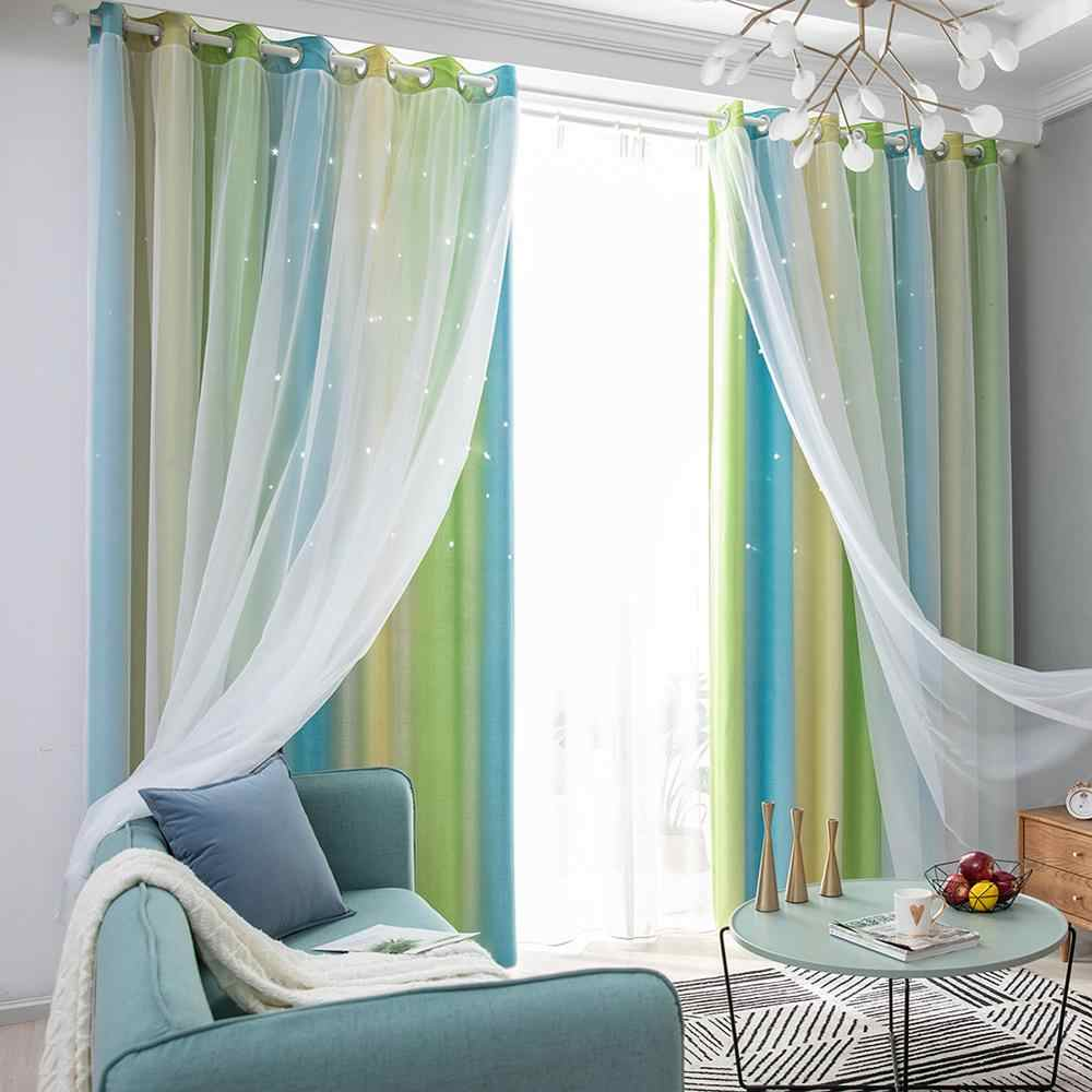 Hollow Star Sheer Curtain Romantic Window Curtains For Girl Kids Bedroom Blackout Window Drapes Curtain Home Decoration Curtains Aliexpress
