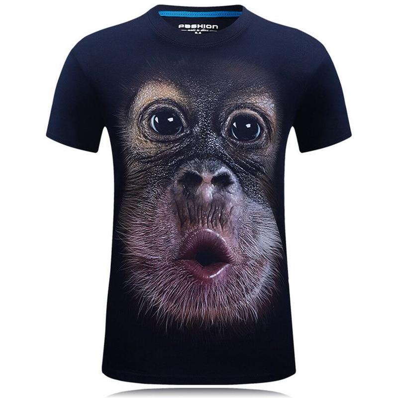 Belle mode d'été 3D T shirts drôles hommes Animal imprimé coton à manches courtes col rond T shirts Punk mâle hauts T shirts Camisetas 7XL - 3