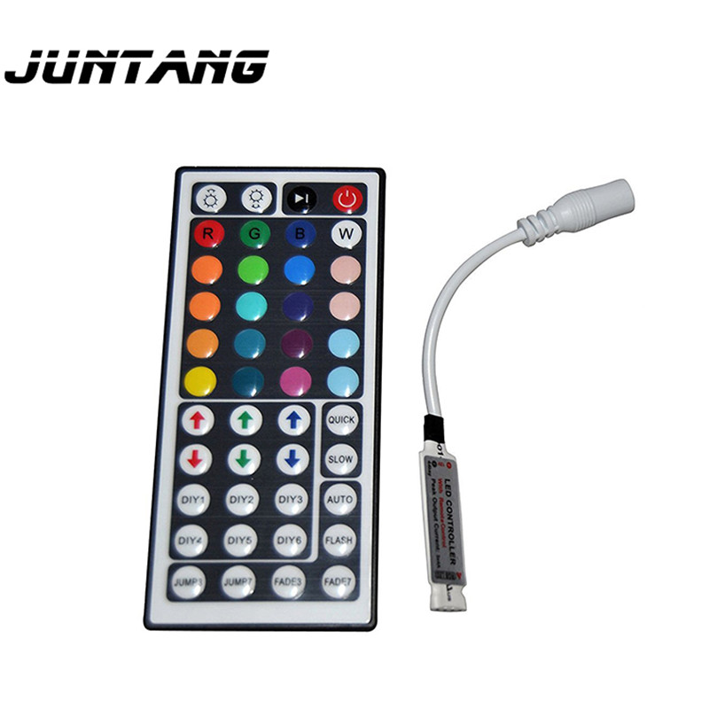44-key RGB controller <font><b>12V</b></font> IR infrared LED light strip dimming controller Radio frequency <font><b>remote</b></font> control120m * 40mm * 10mm image