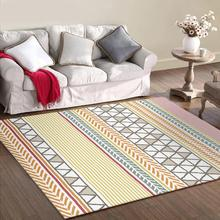 Japan South Korea style Artistic abstract lines pattern door mat plush bedroom rug living room 1.5x2m size customize floor mat abstract pattern floor mat